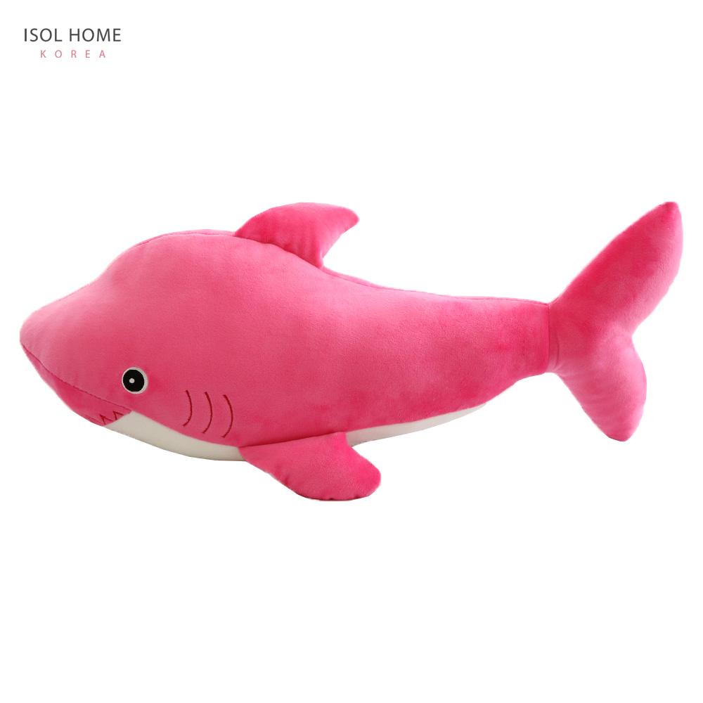 이솔홈 포근이 상어인형 동물인형, 핑크