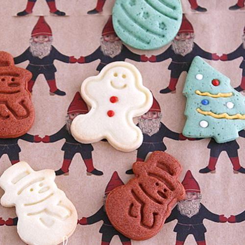 이홈베이커리 크리스마스 푸쉬 쿠키커터 (쿠키틀 4종)