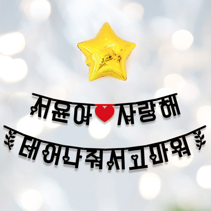 애니데이파티 Big한글가랜드 내맘대로 주문제작, [글자수]-6글자