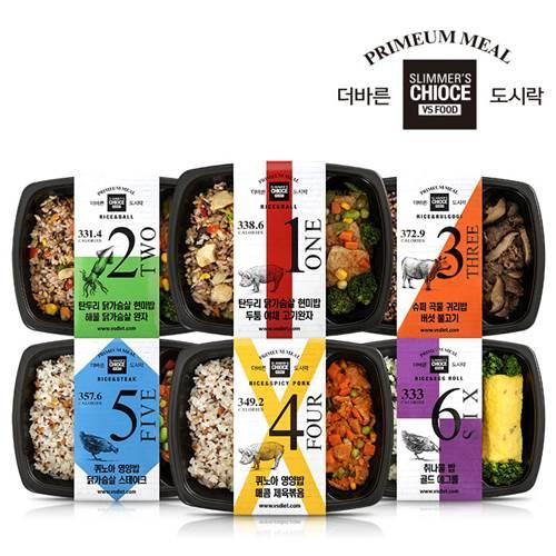 VSFood 다이어트 식단 관리 더바른도시락 6종 12팩 10팩 6팩