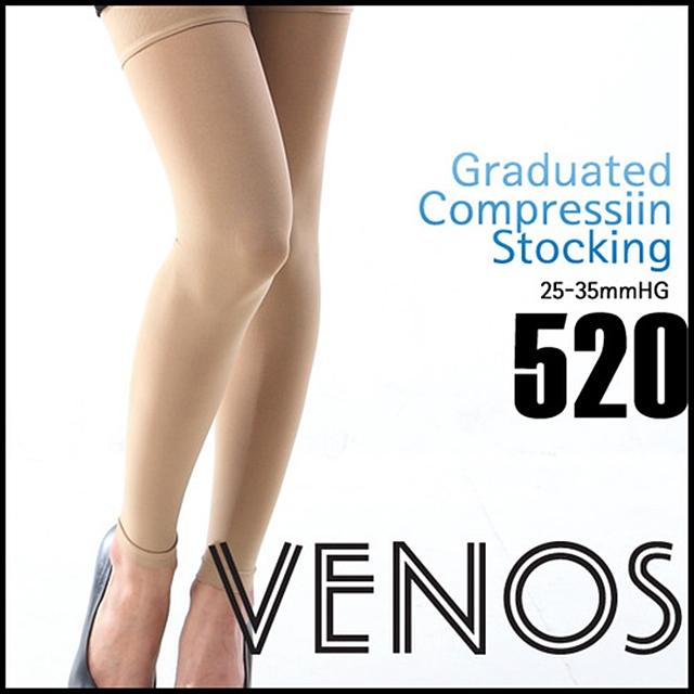 베노스 No.520 무광택 밴드(허벅지형) 레깅스형 압박스타킹 360데니아 25-35mmHG, 1개