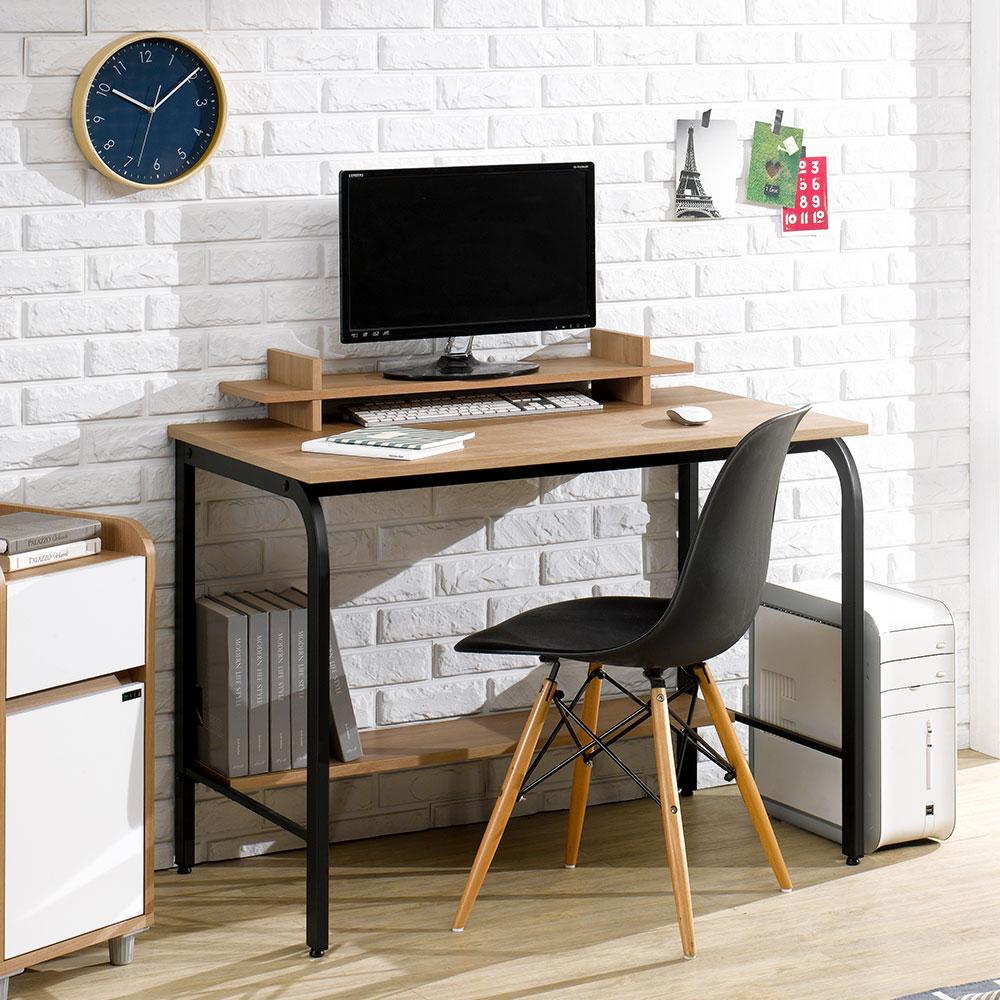 파란들 엑소 스틸 입식 책상 1000 철제 컴퓨터책상, 철재: 블랙, 상판: 아카시아