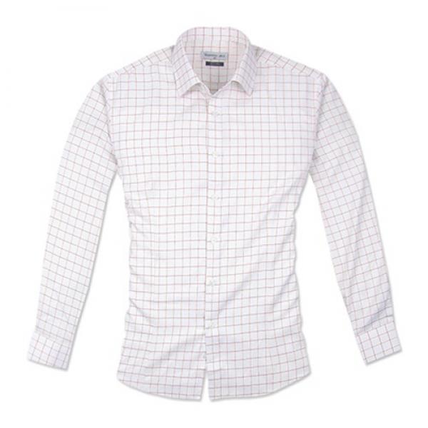 발렌티노 슬림 레이져 스퀘어 화이트 셔츠 체크셔츠 흰색셔츠 긴팔셔츠 슬림셔츠 화이트셔츠