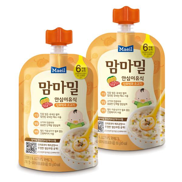 맘마밀 안심이유식 6개월부터, 단호박과소고기, 5개입
