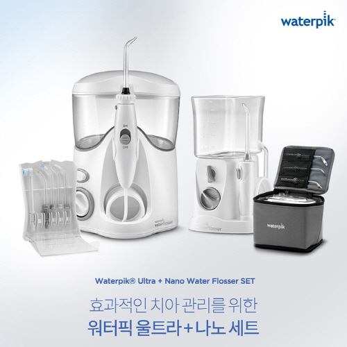 Waterpik 워터픽 구강세정기 콤보팩 울트라 + 나노 세트, 워터픽 콤보팩(WP-140K+WP-310K)