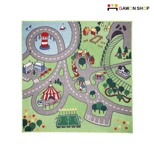 이케아 STADSDEL 도로모양 놀이매트 러그, 멀티컬러(103.619.11)