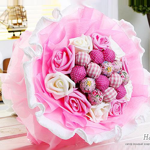해피365 사탕부케사탕꽃다발 모음 러블리왕창츄파PW핑크