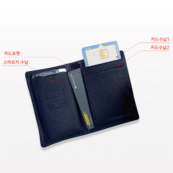 이지스오토랩 SM6 QM6 XM3 스마트 키홀더 키케이스 키지갑 스마트키홀더, 1.심플2 네이비