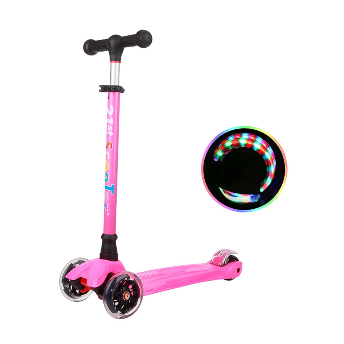 21st ScooTer 아동용 킥보드, 02_21st scooter 컬러플 착탈식 분홍.