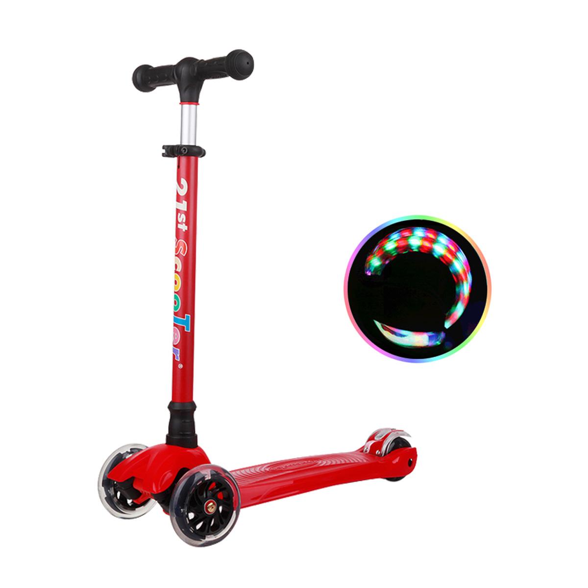 21st ScooTer 아동용 킥보드, 04_21st scooter 컬러플 착탈식 빨강.