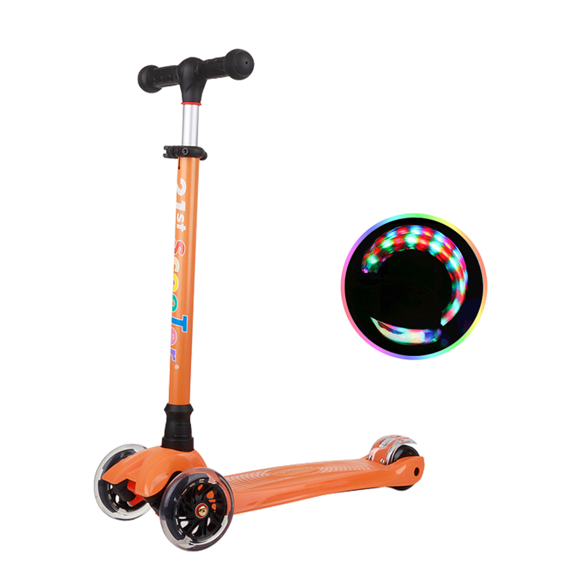 21st ScooTer 아동용 킥보드, 05_21st scooter 컬러플 착탈식 주황.