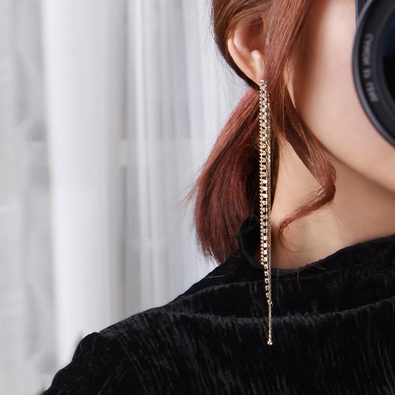 초콜리트쥬얼리 [무배][초코제작] 로렌 롱 드롭귀걸이 귀걸이