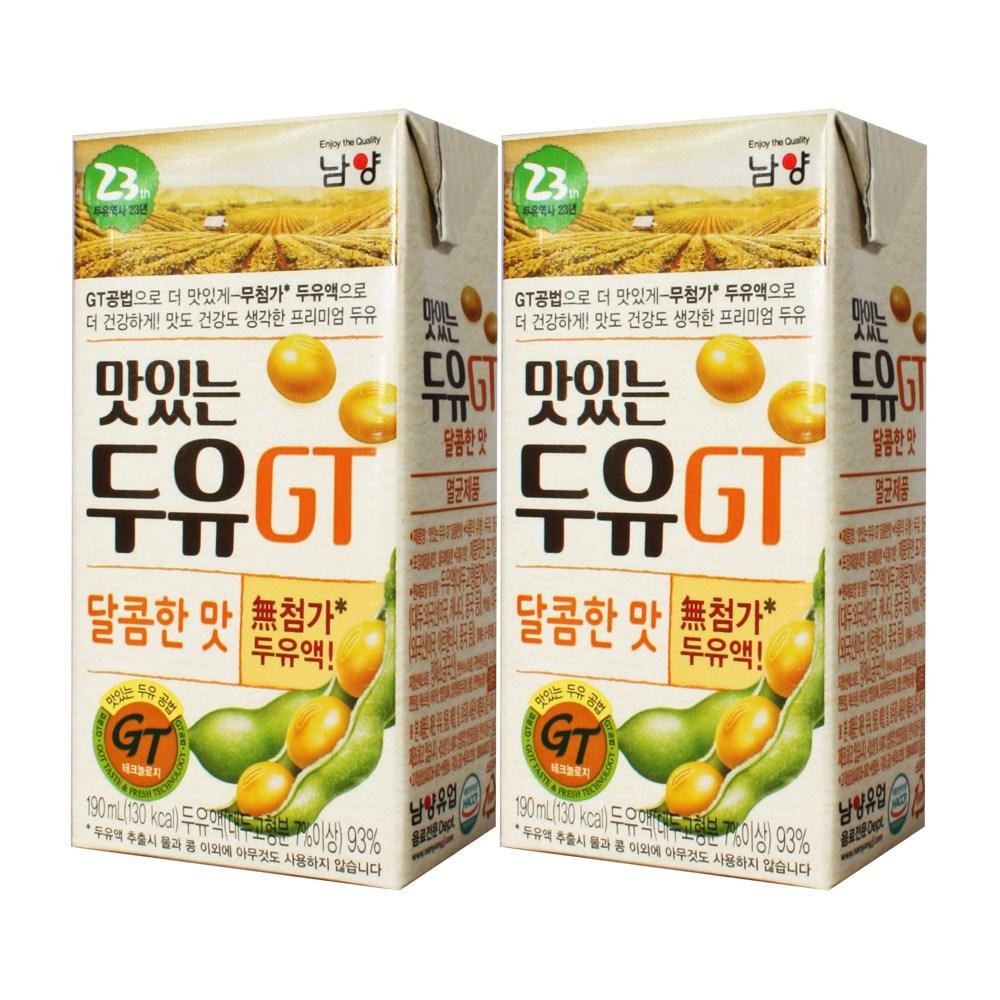 남양유업 맛있는두유GT 달콤한맛 190ml x, 32팩