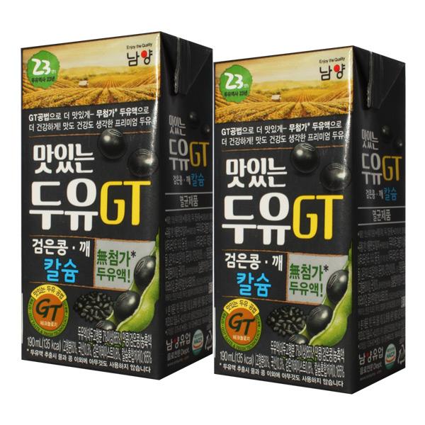 남양 맛있는두유 GT 검은콩깨+칼슘 190ml, 32팩