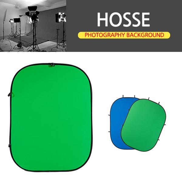 삼오레포츠 HOSSE 촬영소품 원터치 크로마키 원반형(양면사용), 1개, 원터치 크로마키 원반형