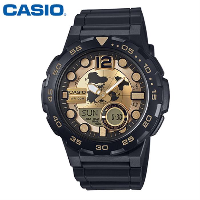 카시오 AEQ-100BW-9A 빅페이스 우레탄 시계