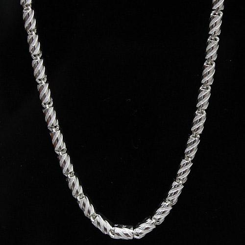 더빛주얼리 스크루 체인 실버 925 남성 여성 (1시이전 주문건 당일발송) 은목걸이