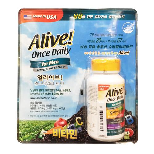 종근당 쏘얼라이브 원스 데일리 포맨60정X1 75가지이상 영양성분 슈퍼멀티비타민 1통