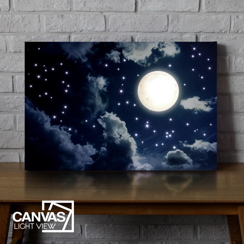 캔버스라이트뷰 구름위의달 LED 조명액자 LED액자