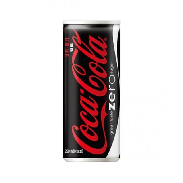 코크제로 코카콜라 제로 캔, 1개, 250ml