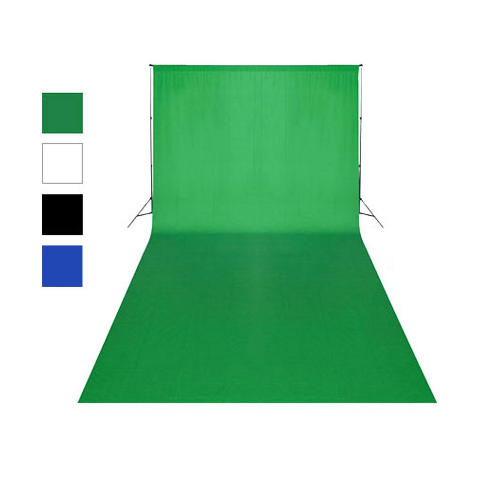 엘리멘트릭스 사진 촬영용 배경천 크로마키 촬영 면소재 배경누끼, PZ4(3m)-그린, 1개