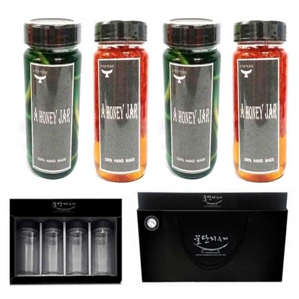 블루레몬청 2개+자몽청 2개 수제청선물세트 과일청set, 단일상품, 단일상품