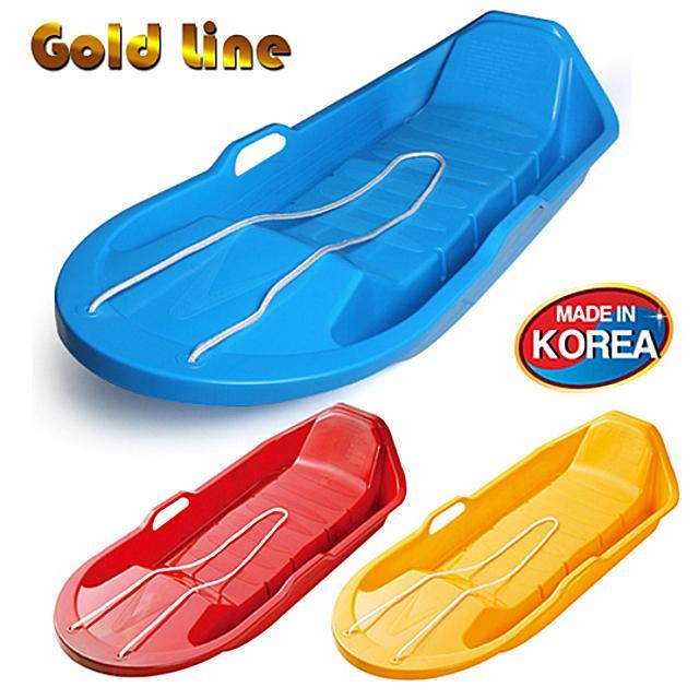 골드라인 눈썰매 2인용 1개(10598), 블루