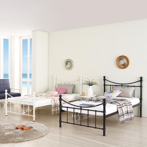 오키멧 에밀리 1층 침대 (싱글 수퍼싱글), 블랙