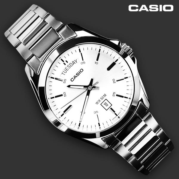 카시오 MTP-1370D-7A1V 손목시계 남성 메탈