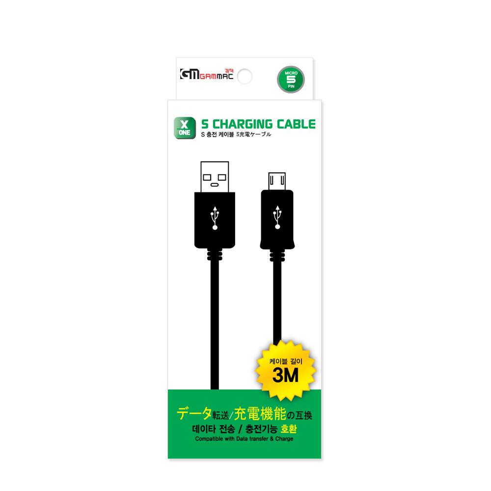 [XBOXONE] GAMMAC 액스박스원 패드 및 마이크로5핀 공용 USB 충전 케이블, 1개, 액원 패드 및 마이크로5핀 공용 USB 충전 케이블
