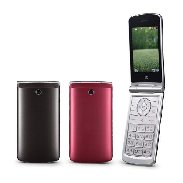 KT용 와인3G T390K 가개통 새제품 폴더폰 수험생용 등 휴대폰, 브라운