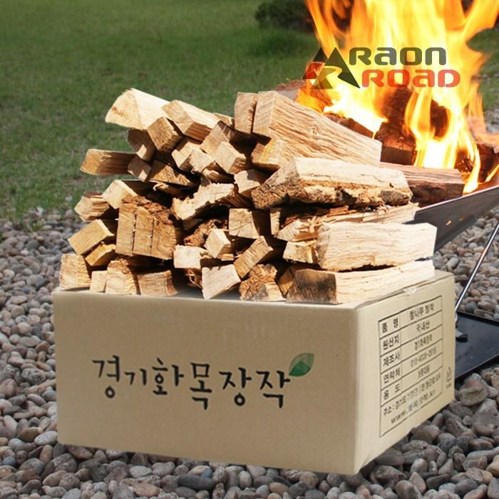 라온로드 캠핑용 참나무 장작 1box 얇은장작 10kg
