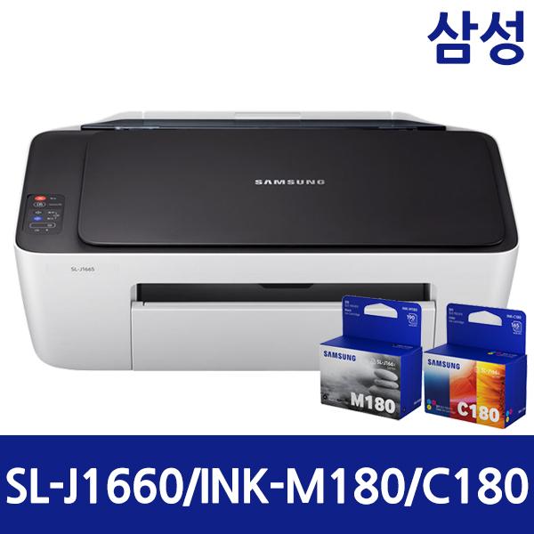 삼성전자 삼성 SL-J1660 잉크젯복합기 잉크젯프린터 인쇄 스캔 잉크젯 복합기, 3. 삼성정품 SL-J1660 (잉크없음,본체만)