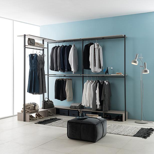리바트온라인 프레임 드레스룸 ㄱ자 2400X1600 기본형, 그레이