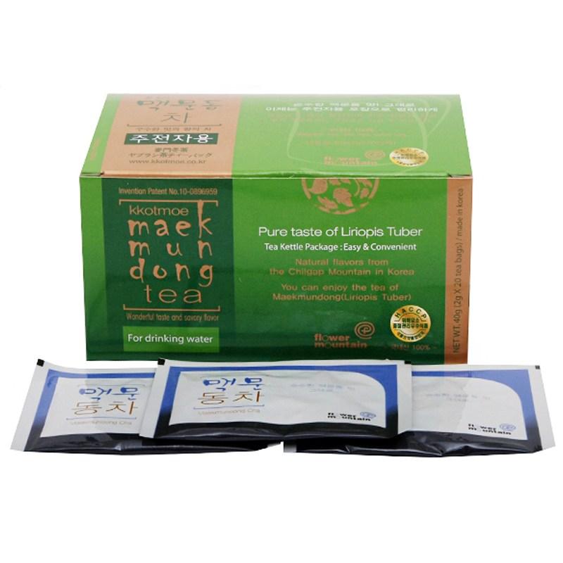 꽃뫼 맥문동차 주전자용 (2.0gx20티백)낱각판매, 1박스