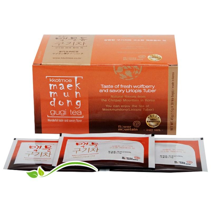 꽃뫼 맥문동 구기자차(1.5gx30티백)낱각판매, 1박스