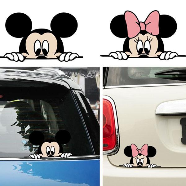 도소 자동차스티커 미키마우스 스티커 흠집 기스 유리, 미키, 1개