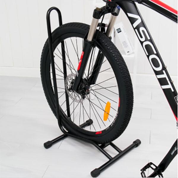 오시오 L형 자전거 스탠드 받침대 실내 거치대 보관대 자전거용품, 블랙