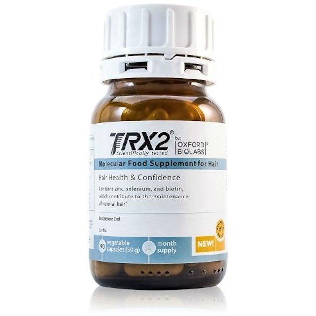 머리카락 1 개월 공급 용 TRX2® 분자 보조제 천연 비오틴 셀레늄 ink크 탈모 치료