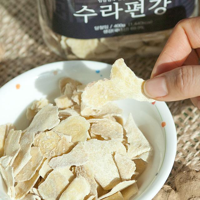 생강마을 바삭한 생강편강 수제 국내산 칩 봉동, 400g, 1통