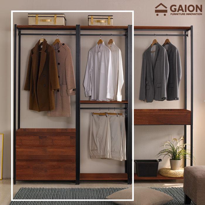 가이온 리온 1400 서랍형 드레스룸 세트 옷장, 멀바우