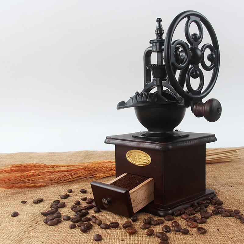 Qterra 해외직구 구매대행 커피 분쇄기 수동 머신용 가정용 소형 빈티지, 커피분쇄기, 1개