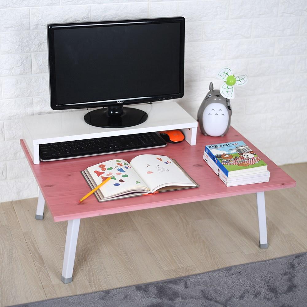 바니가구 파스텔 좌식책상 테이블, 핑크W