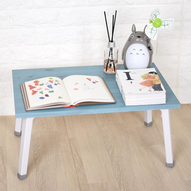 바니가구 미니 좌식책상 테이블, 블루W