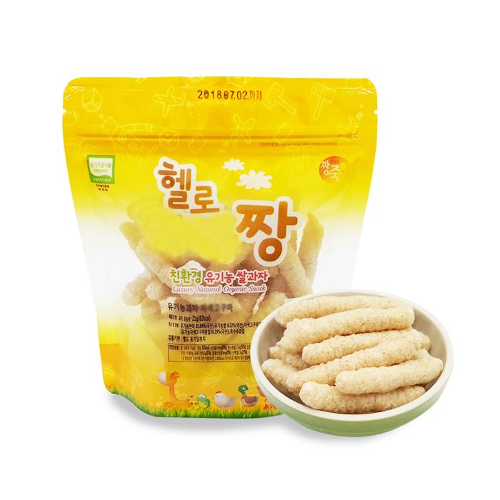 짱죽 유기농 쌀과자 꼬꼬, 21g, 1봉