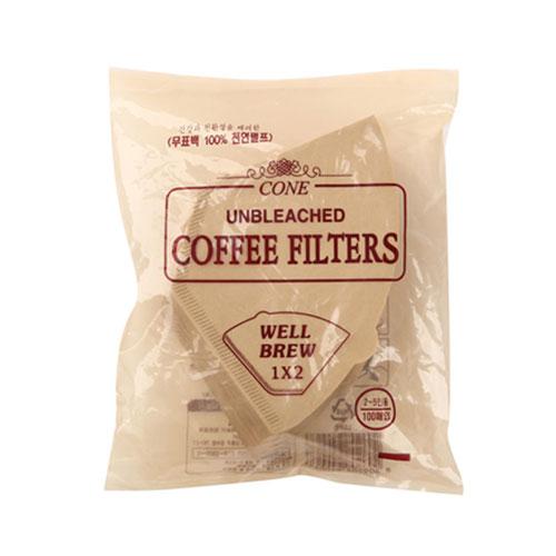 콩스콩스 천연펄프 커피필터, 100매입
