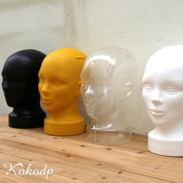 코코디피 플라스틱 두상마네킹 머리 헤어 얼굴 마네킨 모자걸이대 모형 촬영소품 마네킹, 흰색, 1개