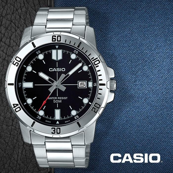 카시오 CASIO MTP-VD01D-1E 남성용 메탈밴드 패션시계