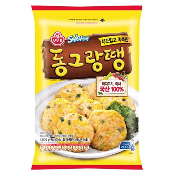 [무료배송](오뚜기) 부드럽고 촉촉한 동그랑땡 1kg, (오뚜기) 부드럽고 촉촉한 동그랑땡 1kg