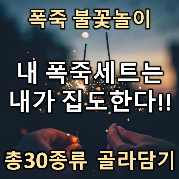 폭죽푹죽!! 총30종류 불꽃놀이 폭죽 골라담기, 07. 대형 분수불꽃